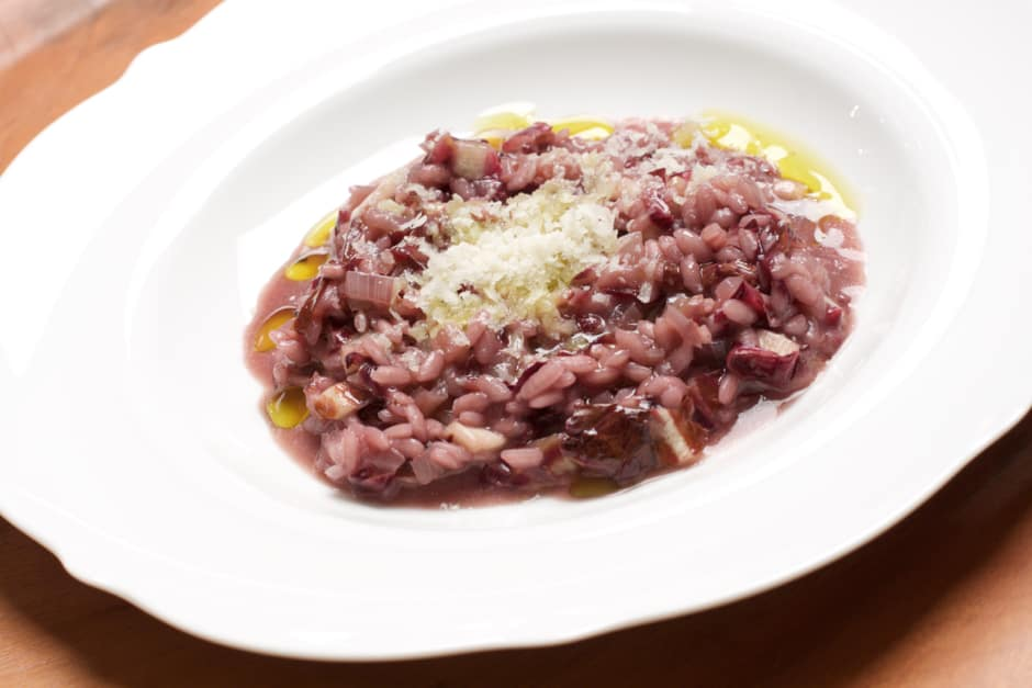Pure Italy with easy radicchio risotto