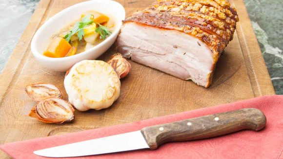 traditional roast pork with crust