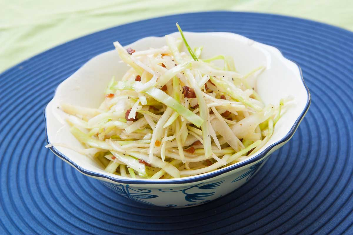 Coleslaw served in the bowl.