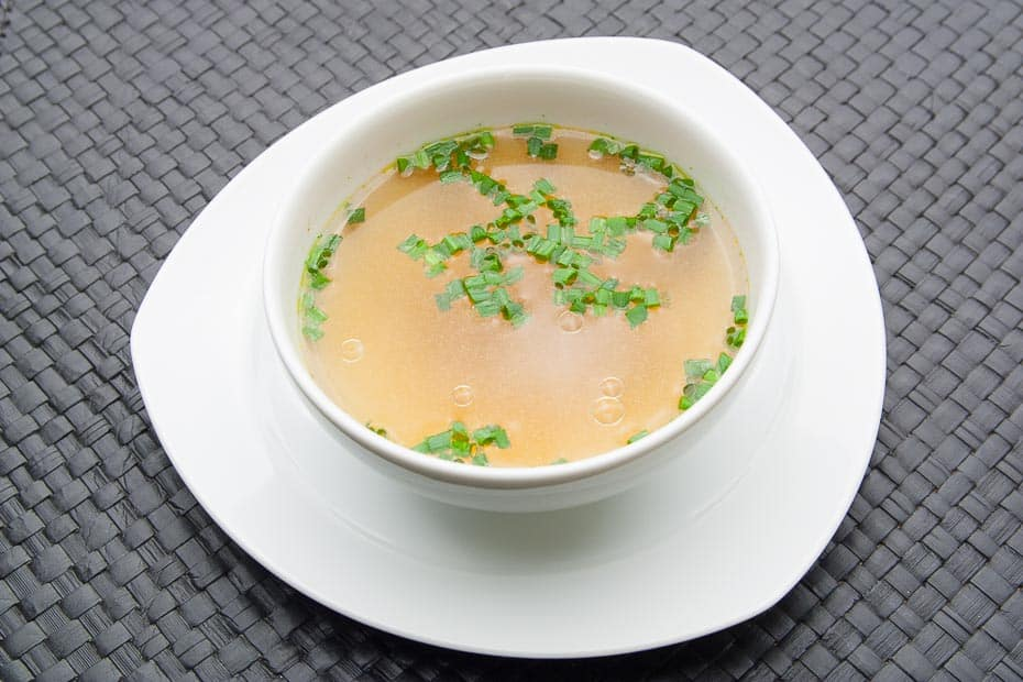 clear beef soup