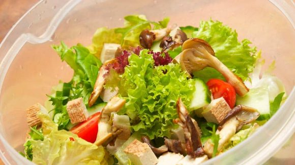 Salad with Tofu, Recipe with Cooking Video for a wonderful Tofu salad