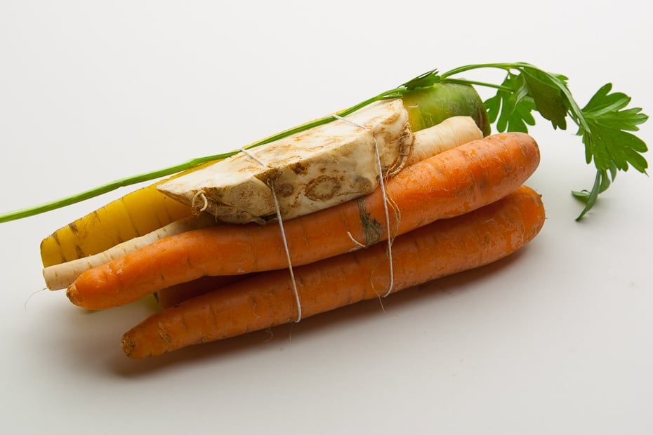 Vegetable for chicken soup