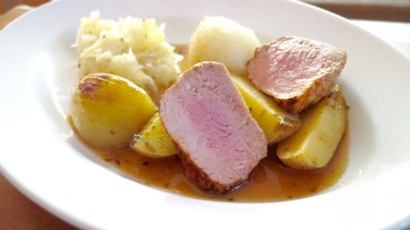 recipe picture for quickly prepare roast pork from fillet of pork