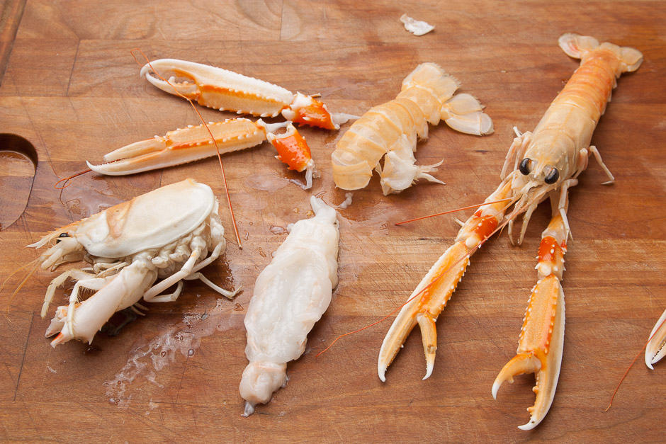 The real scampi is a small crab and tastes delicious!
