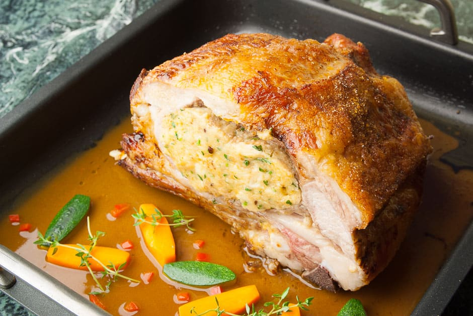 Veal breast and roast veal