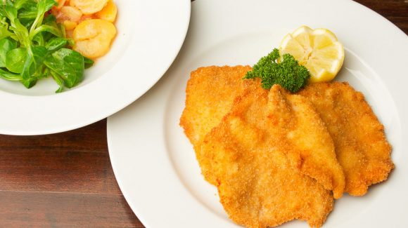Breaded schnitzel picture for articles and instructions.