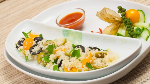 Couscous simply made with vegetables recipes picture.