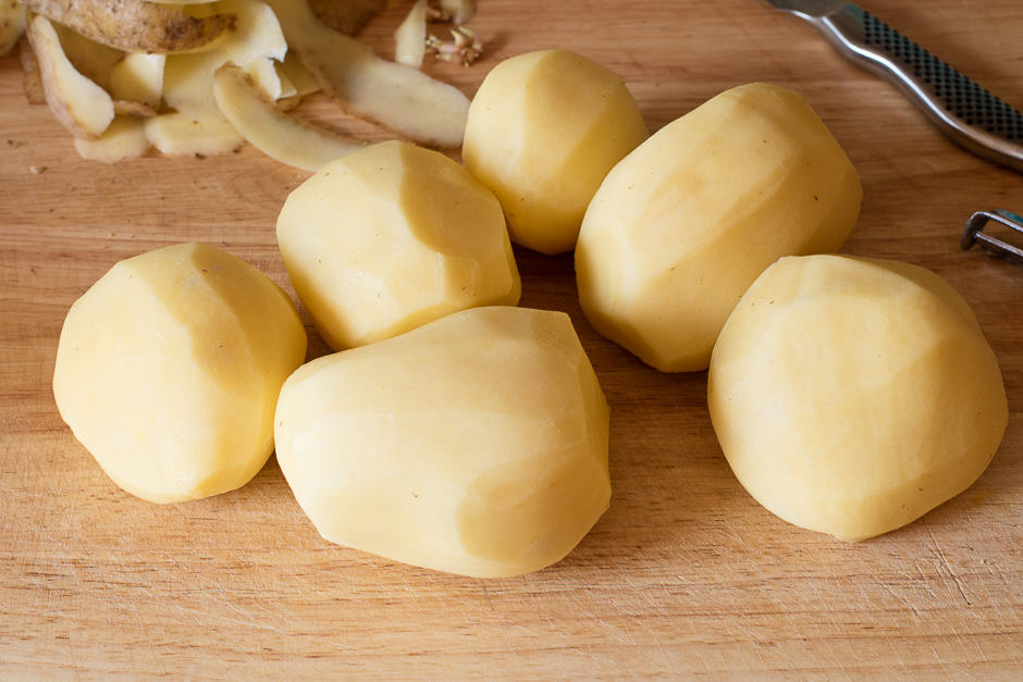 Potatoes for mashed potatoes, floury potatoes are the right choice.