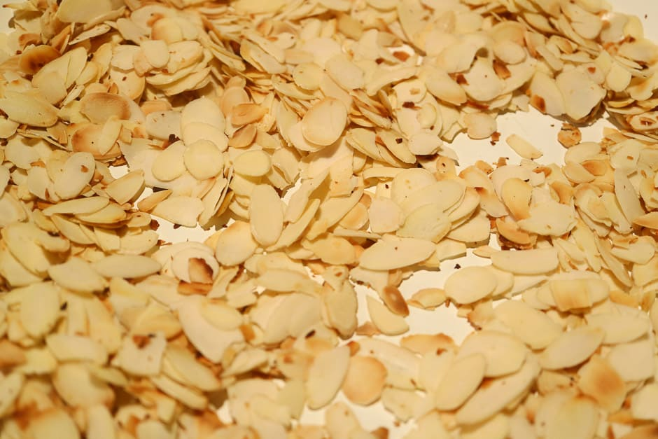 Toasted almonds for couscous.