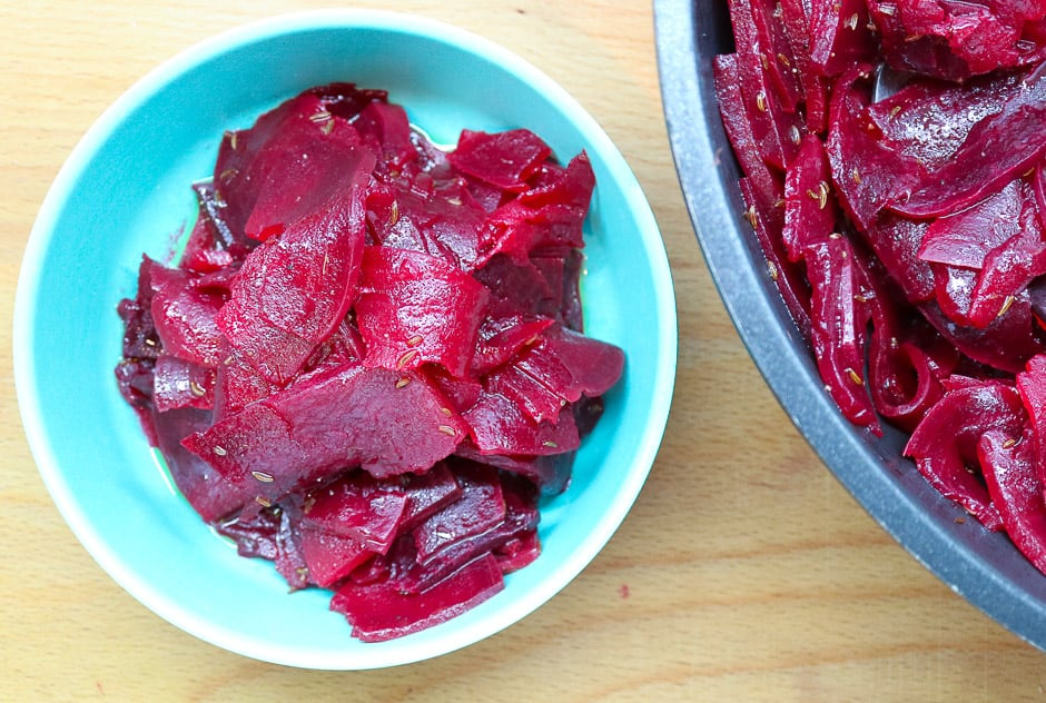 Beetroot and beetroot salad