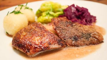 Roast duck on plate recipe picture