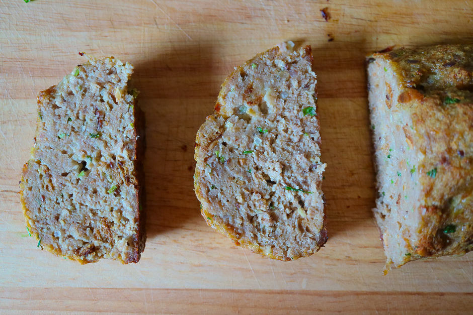 Cut the meatloaf into slices