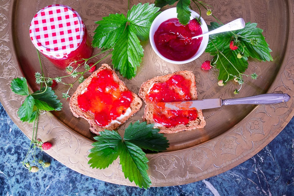 Cook the strawberry jam yourself