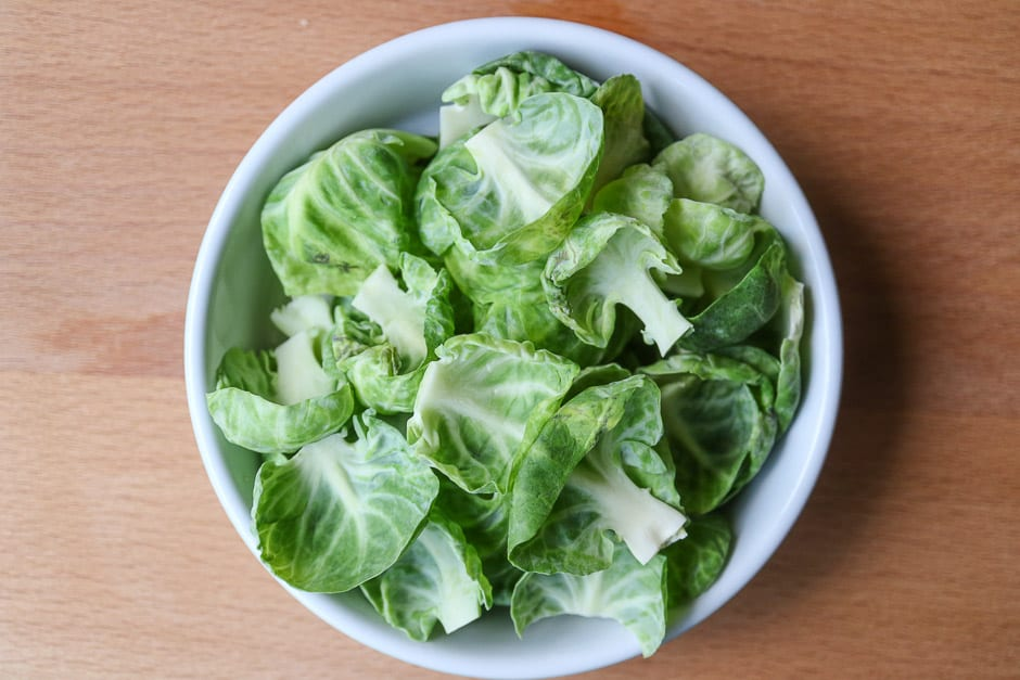 Brussels sprouts leaves