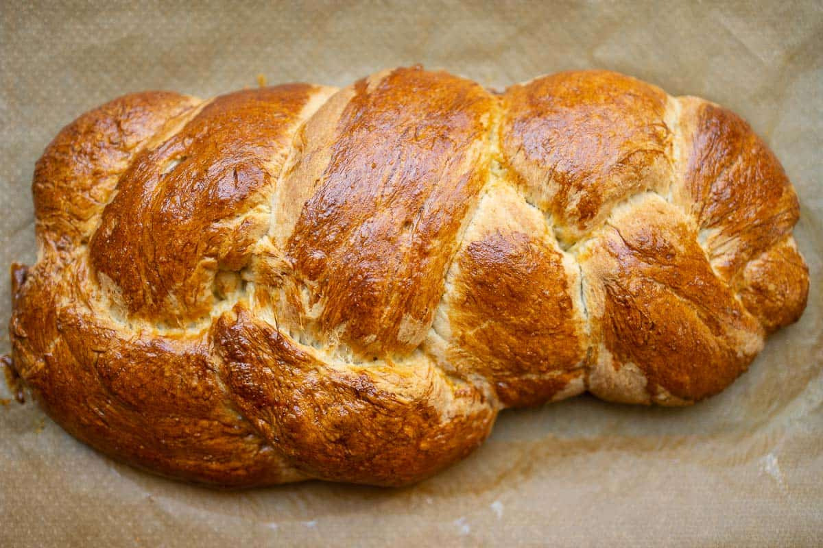 Baked yeast plait recipe picture