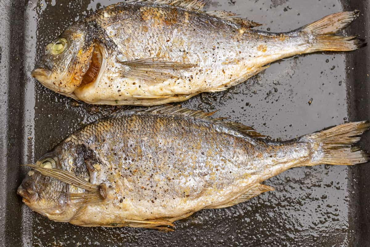 Grill the fish whole