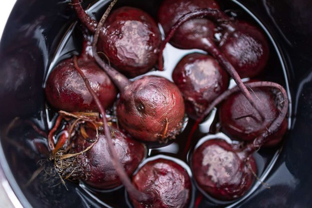 Beetroot when boiling in the pot