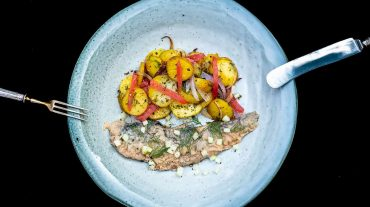 Recipe picture fried herring with fried potatoes