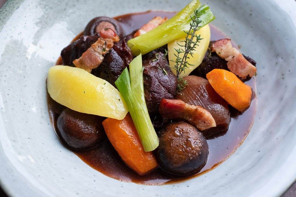 Serve the beef ragout