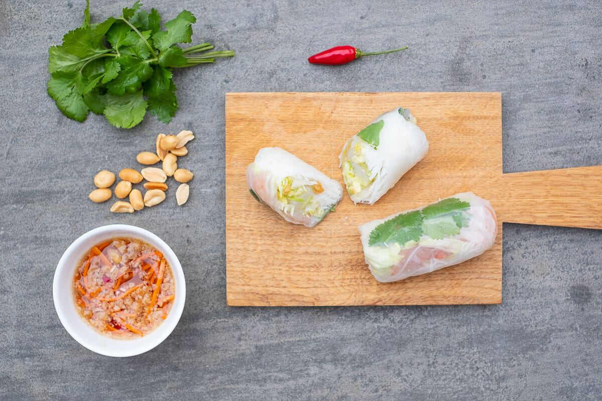 summer rolls with shrimps