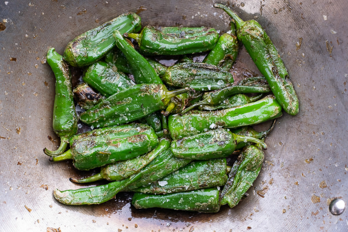 Fried peppers pan