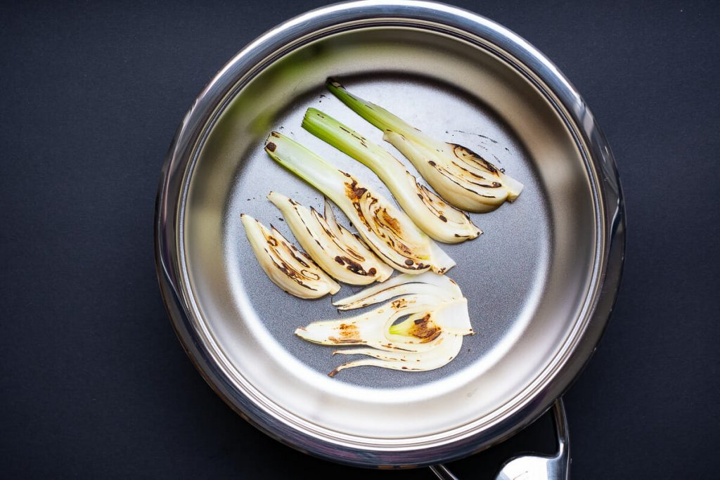 Fennel in the pan while frying