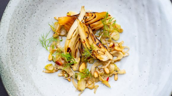 Roasted fennel with pine nuts