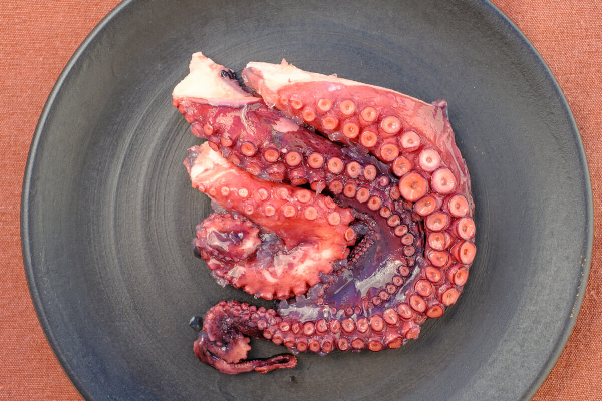 Cooked octopus