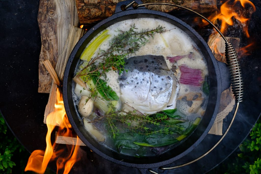 Cooking fish soup