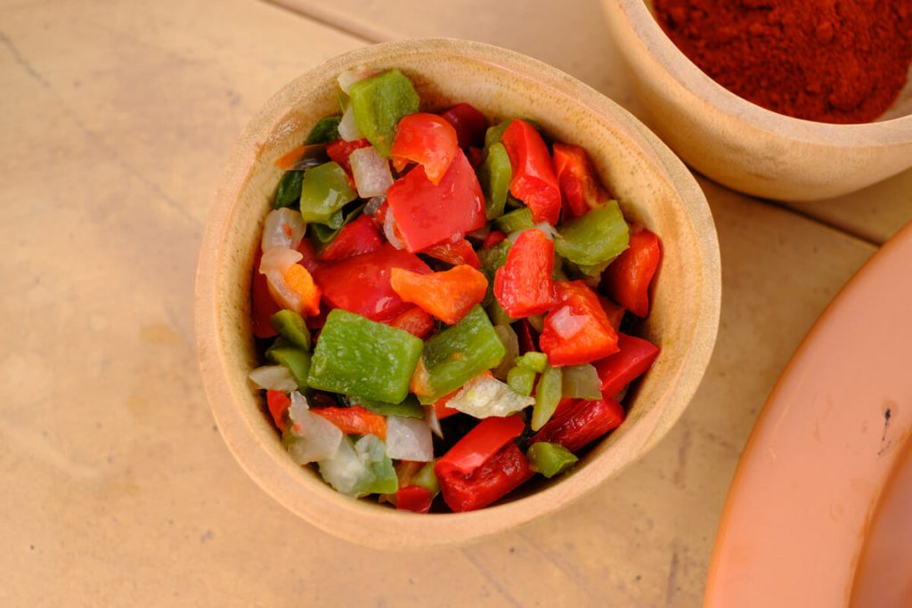 Chopped peppers