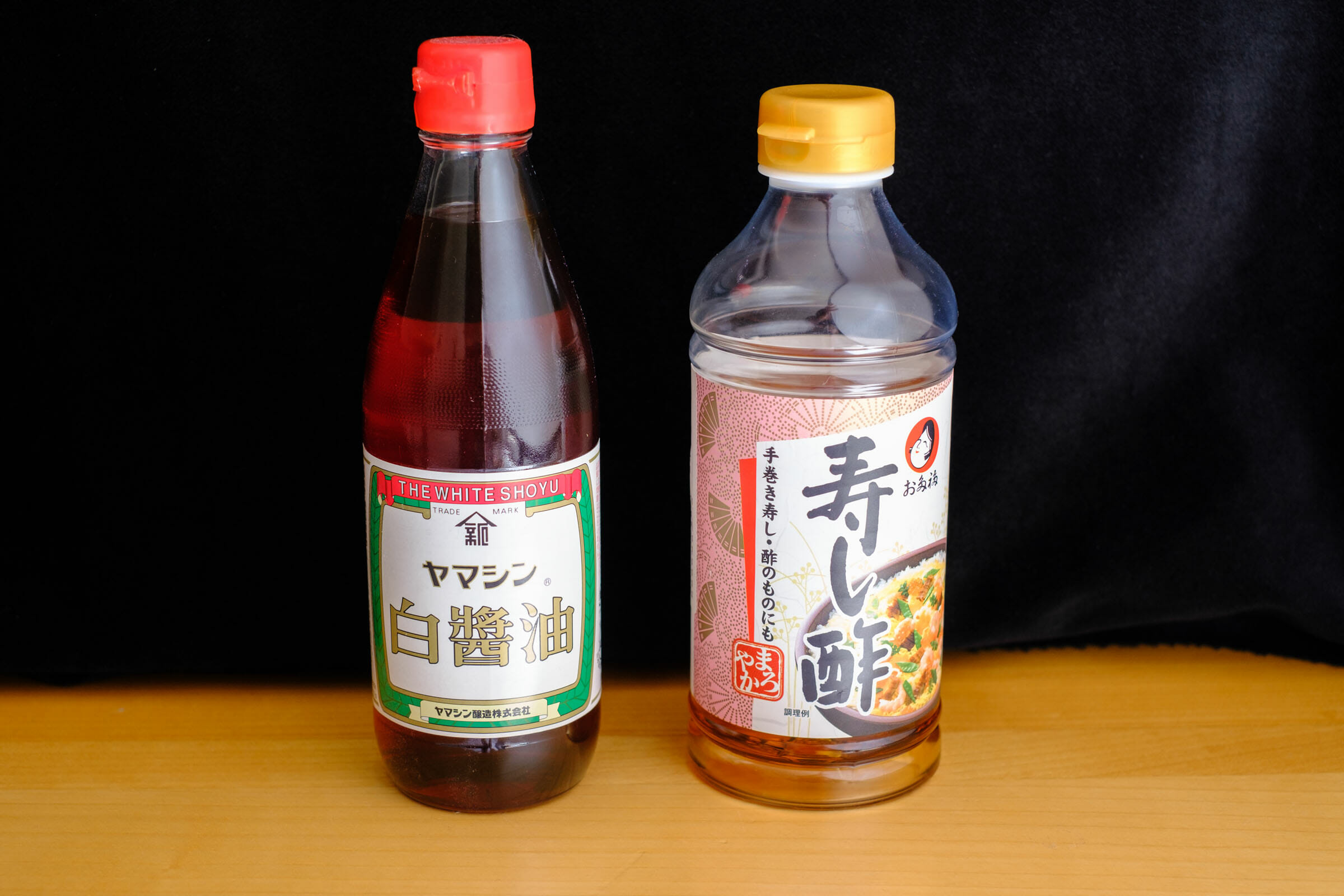 Soy sauce and sushi vinegar