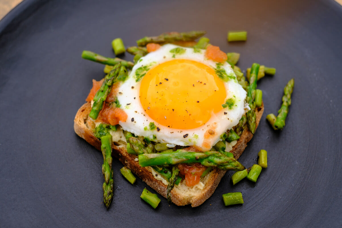 Toast with fried egg