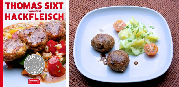 Hackfleisch Rezepte iPad Kochbuch von Thomas Sixt.