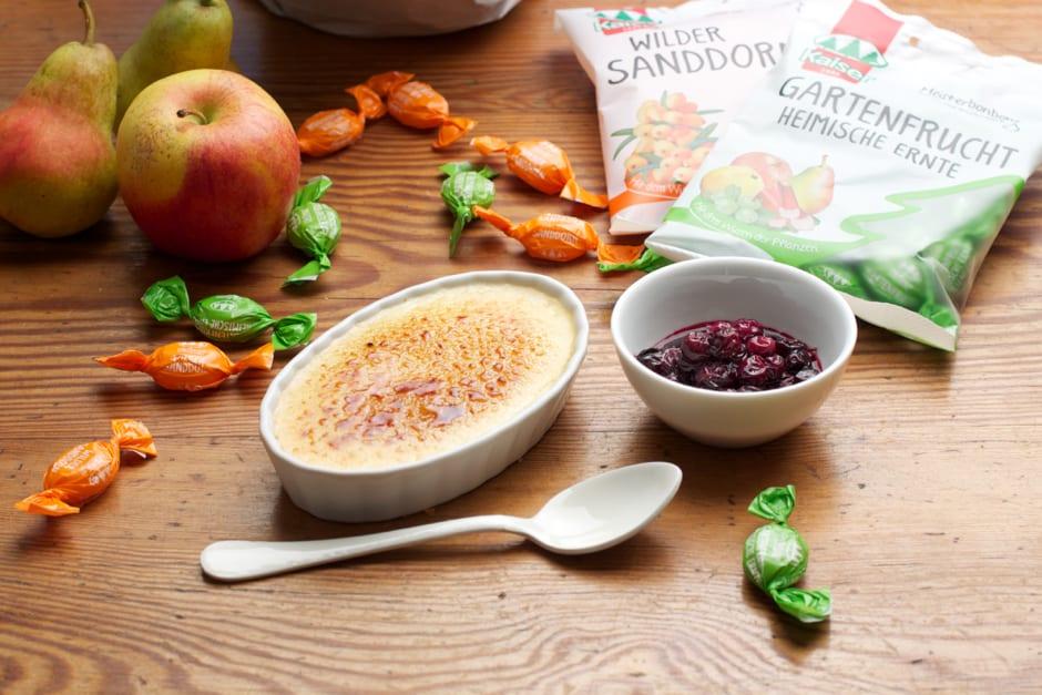 Crème brûlée rezept einfach zubereitet mit Wildem Sanddorn Bonbon Rezept Bild