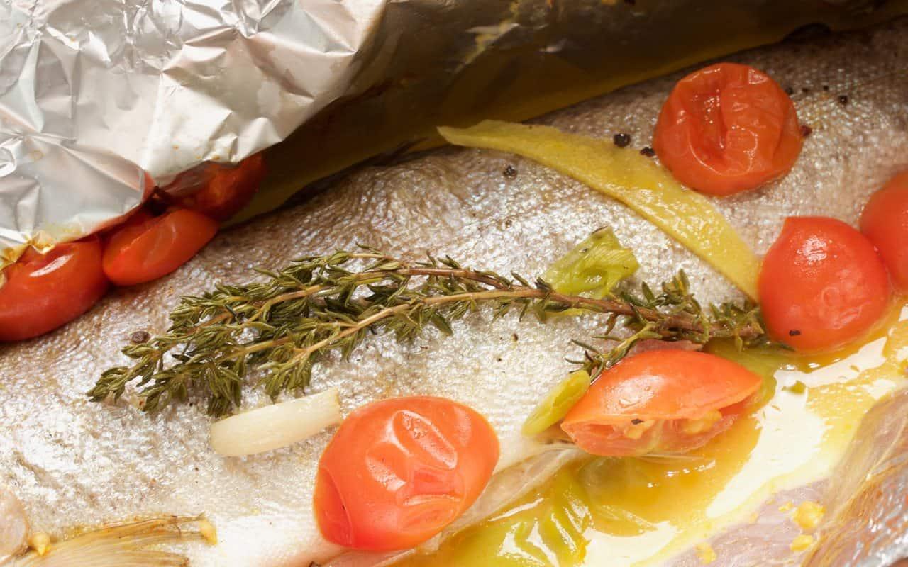 Fisch in Alufolie.