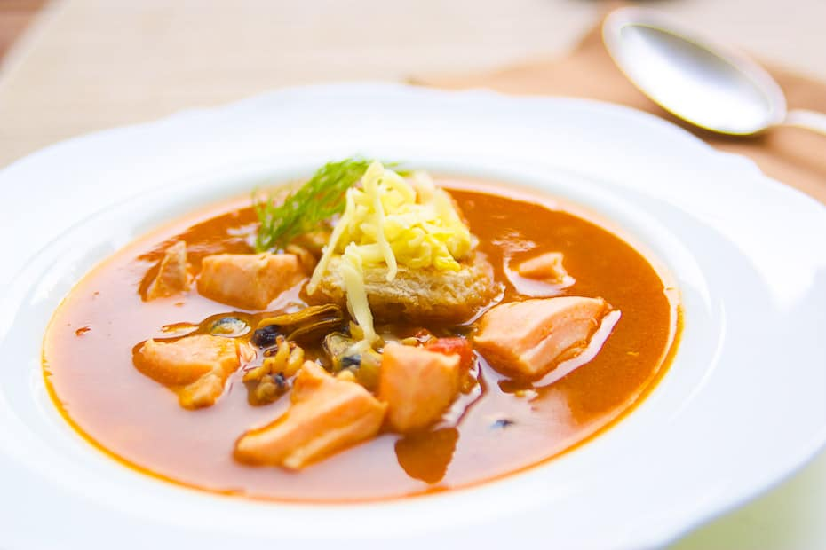 Bouillabaisse french fish soup