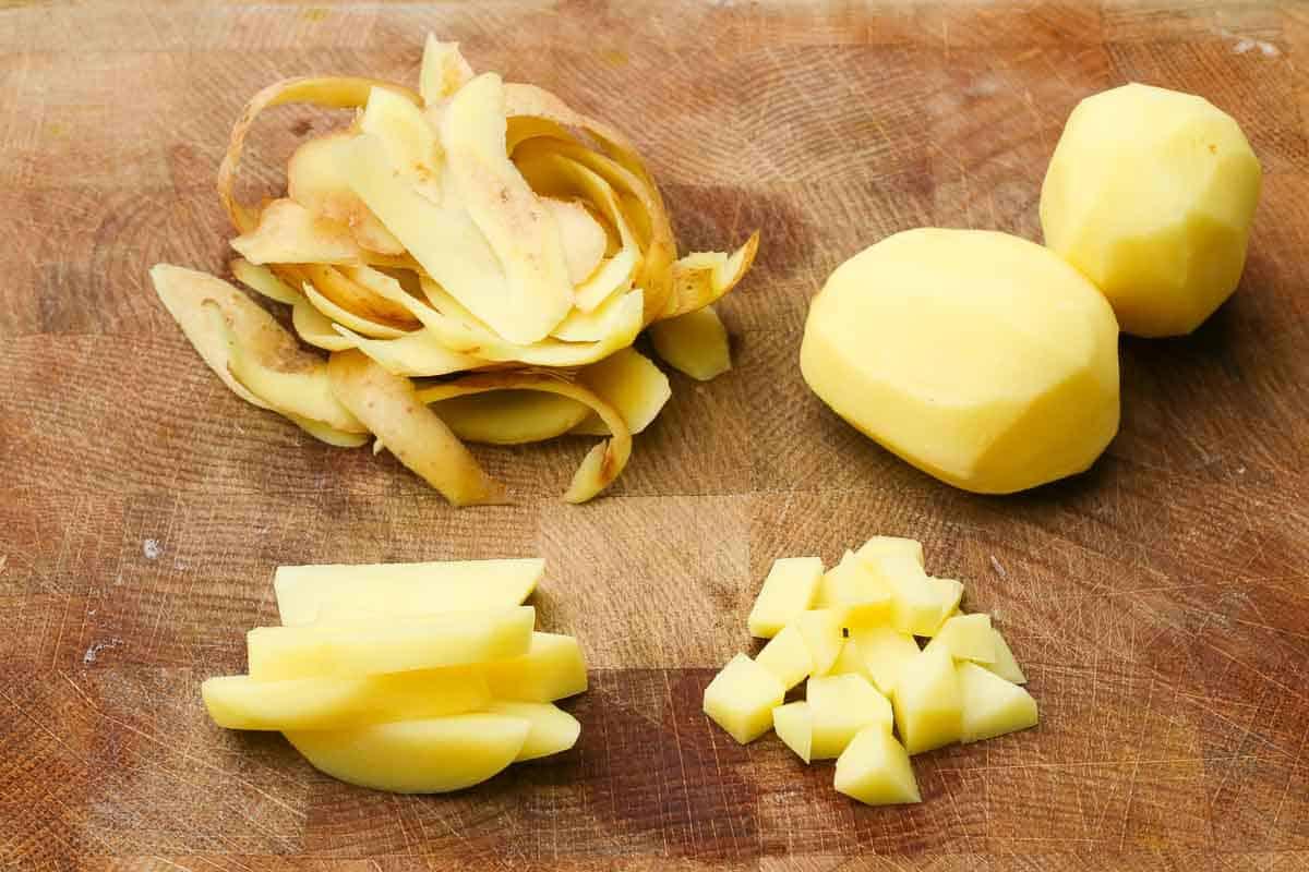 Kartoffeln für Kartoffelsuppe