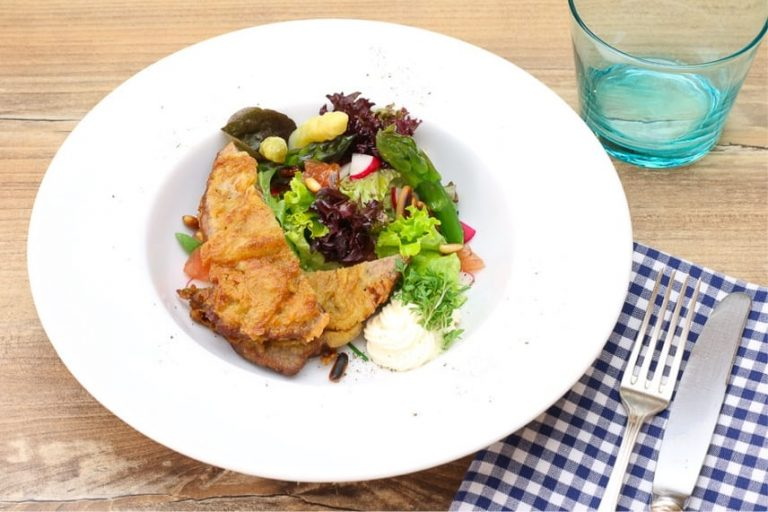 Rindfleischsalat mit Blattsalat, Spargel als vorspeise oder hauptgericht