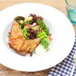 Rindfleischsalat, aussergewöhnlich, einfach, mit Spargel und Blattsalate
