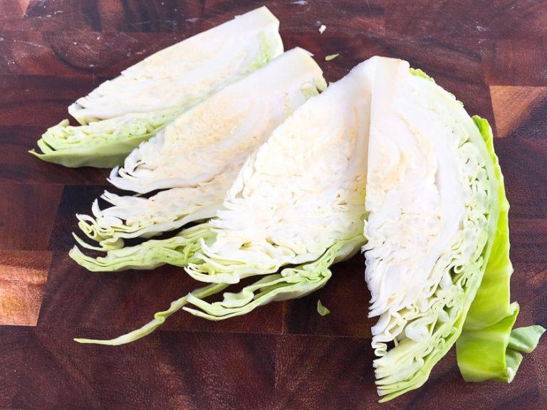 white cabbage prepared for braising