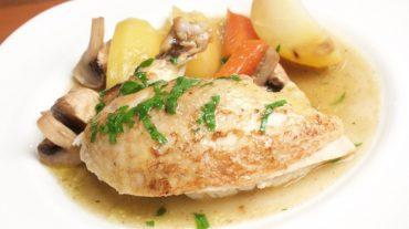 Hähnchen in der Pfanne mit Gemüse Rezept Bild
