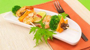 Garnelenspieße Rezept Bild zum Beitrag von Kochprofi Thomas Sixt. Foodbild ©Thomas Sixt