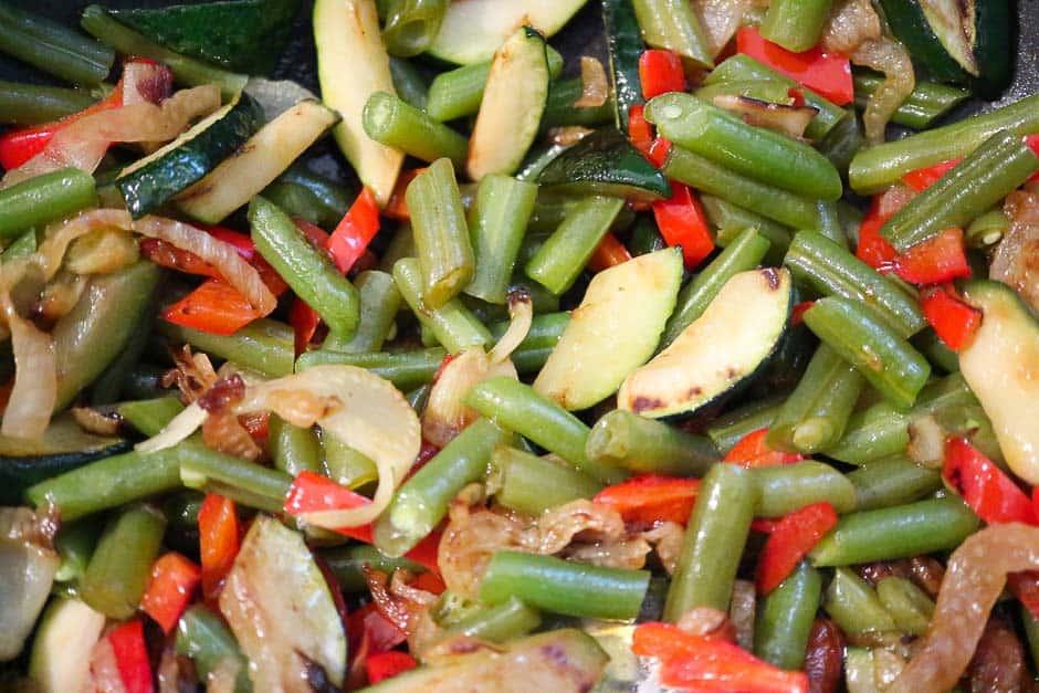 Gemüse für gemüsespaghetti