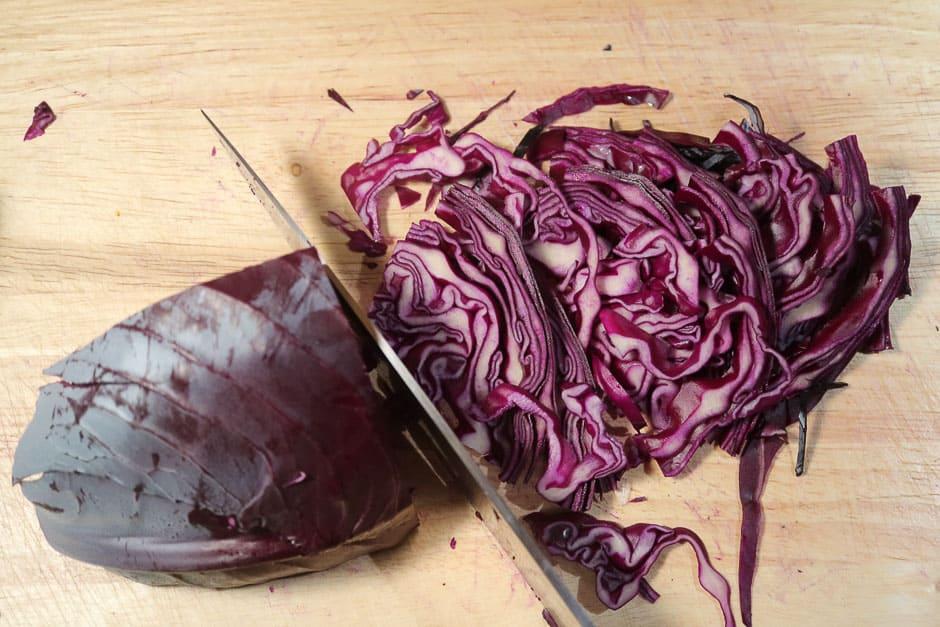 fein geschnittenes Blaukraut (Rotkraut, Rotkohl)