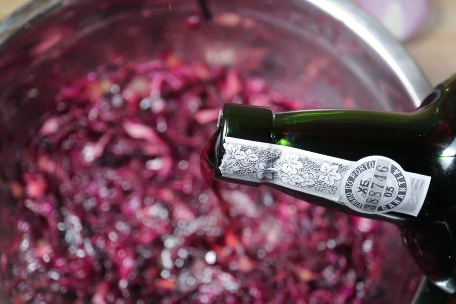Portwein im Blaukraut
