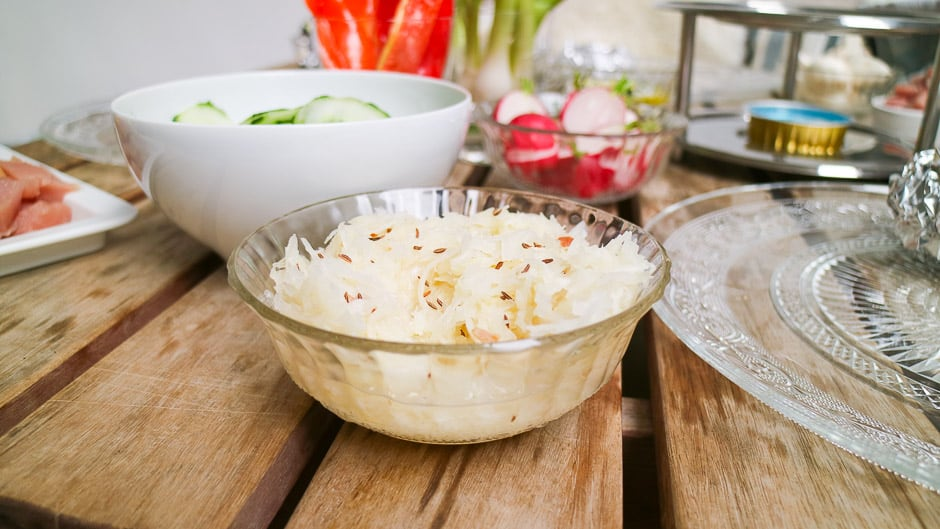 Cabbage salad with caraway...