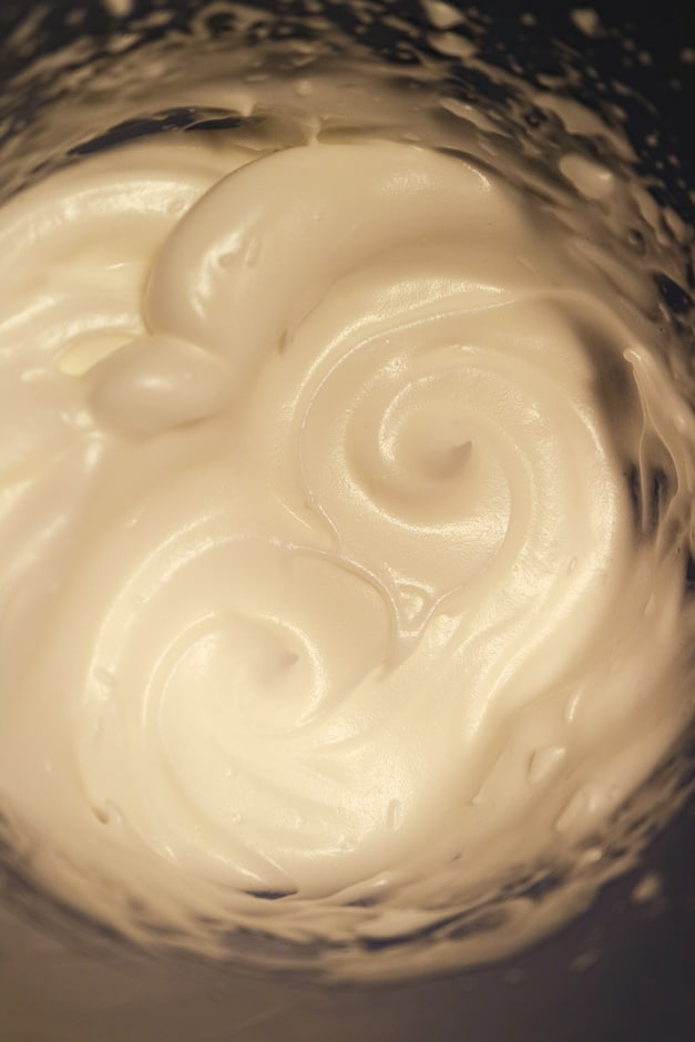 egg white freshly whipped
