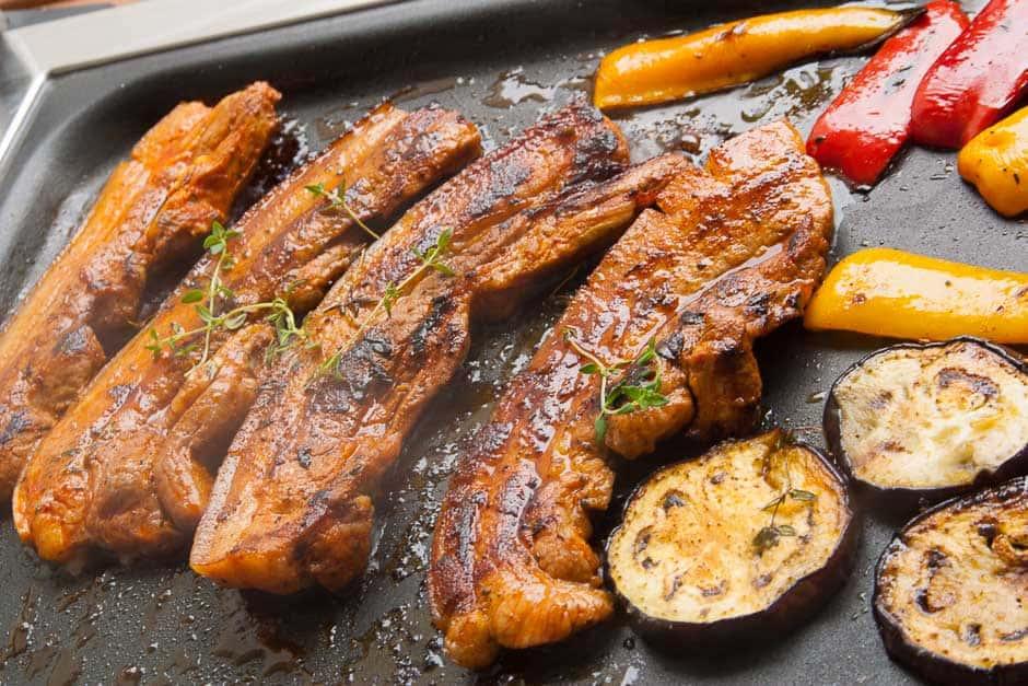 Fleisch und Gemüse auf dem Grill, Kategorie Grillrezepte