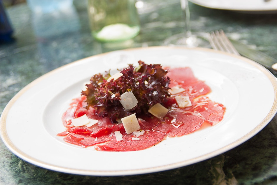 Carpaccio of Beef Fillet classic prepare and ideas for vegetarian Carpaccio