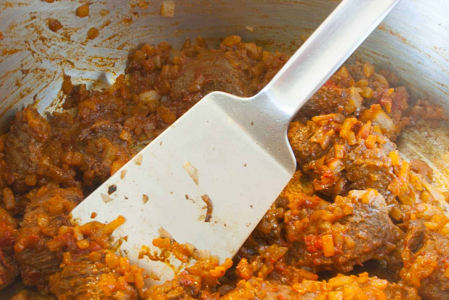 Beef goulash Roasting, so cooking professionals and star chefs cook a beef goulash.
